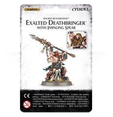 Khorne Bloodbound Exalted Deathbringer With Impaling Spear ( w83-36 )