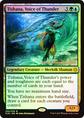 Tishana, Voice of Thunder - Foil - Prerelease Promo