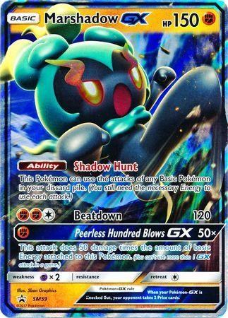 Marshadow GX - SM59 - SM Black Star Promos