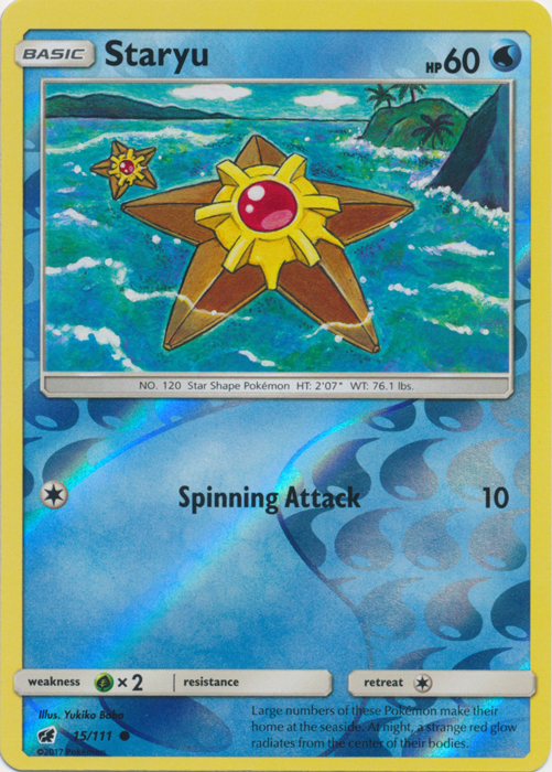 Staryu - 15/111 - Common - Reverse Holo