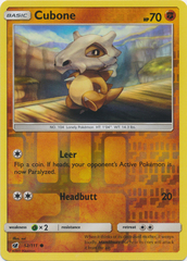 Cubone - 52/111 - Common - Reverse Holo