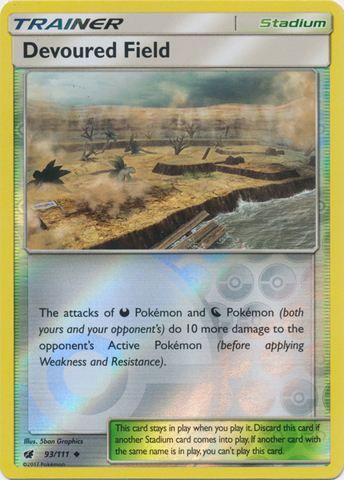 Devoured Field - 93/111 - Uncommon - Reverse Holo