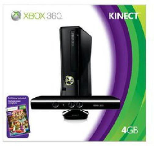 Xbox 360 Slim Console 4GB Kinect Bundle