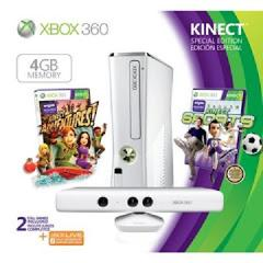 Xbox 360 Slim Console 4GB White Kinect Bundle