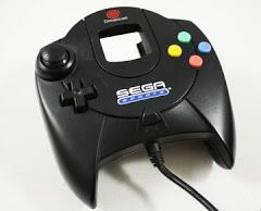 Black Sega Dreamcast Controller