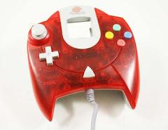 Red Sega Dreamcast Controller
