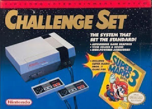 Nintendo NES Challenge Set Console