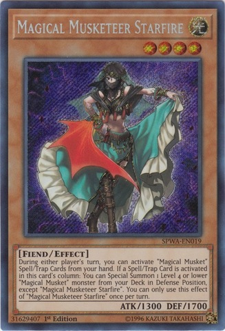 Magical Musketeer Starfire - SPWA-EN019 - Secret Rare - 1st Edition