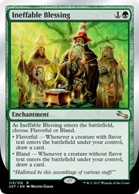 Ineffable Blessing (A - Flavorful/Bland)