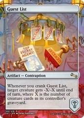 Guest List - Foil