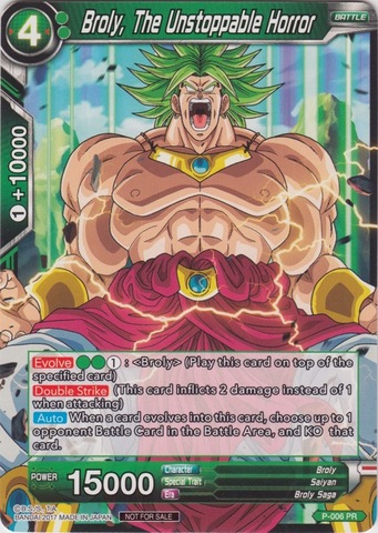 Broly, The Unstoppable Horror (Foil Version) - P-006 - PR