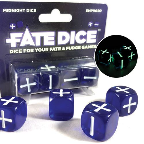 Fate Core Dice: Midnight Dice