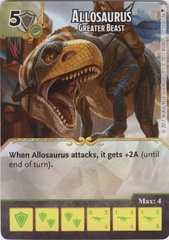 Allosaurus -  Greater Beast (Die and Card Combo)