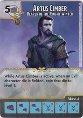 Artus Cimber - Bearer of the Ring of Winter (Die and Card Combo)
