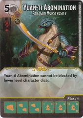 Yuan-Ti Abomination - Paragon Monstrosity - Foil - (Die and Card Combo)