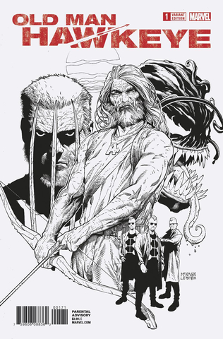 Old Man Hawkeye #1 (Of 12) Mcniven Sketch Var Leg
