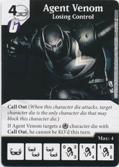 Agent Venom - Losing Control (Card and Die Combo) Foil