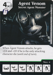 Agent Venom - Secret Agent Monster (Die and Card Combo)