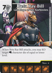 Beta Ray Bill - Last Hope of the Korbinites (Die and Card Combo)