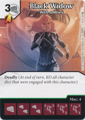 Black Widow - Web of Lies (Die and Card Combo)