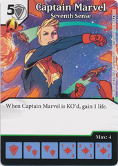 Captain Marvel - Seventh Sense (Die and Card Combo)