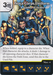 Nova Corps Uniform - A Symbol of Order (Die and Card Combo)