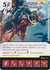 Quasar - The Cosmic Avenger (Die and Card Combo)
