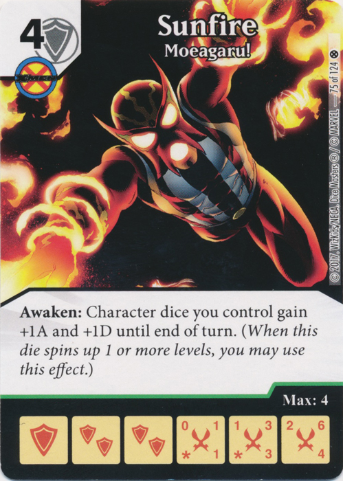 Sunfire - Moeagaru! (Card and Die Combo) Foil