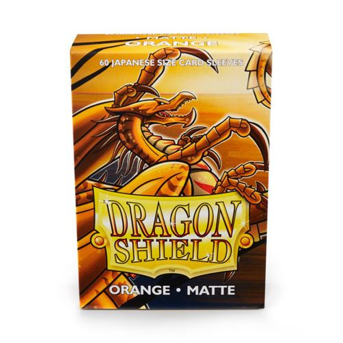 Dragon Shield Sleeves: Matte Orange (60 Japanese Size)