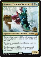 Kumena, Tyrant of Orazca (RIX Prerelease Foil) 13-14 January 2018