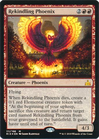 Rekindling Phoenix - Foil - Prerelease Promo