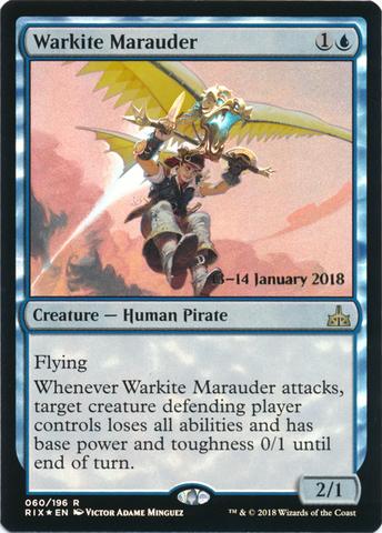 Warkite Marauder - Foil - Prerelease Promo - Magic Singles