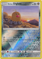 Alolan Diglett - 78/156 - Common - Reverse Holo on Channel Fireball