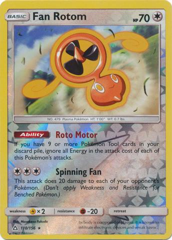 Fan Rotom - 110/156 - Rare - Reverse Holo