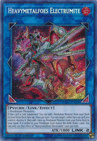 Heavymetalfoes Electrumite - EXFO-EN098 - Secret Rare - 1st Edition