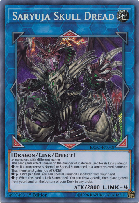 Saryuja Skull Dread - EXFO-EN048 - Secret Rare - 1st Edition