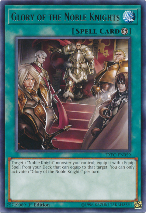 Glory of the Noble Knights - EXFO-EN059 - Rare - 1st Edition