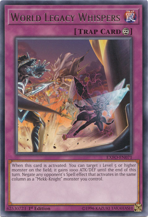 World Legacy Whispers - EXFO-EN071 - Rare - 1st Edition