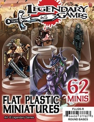Flat Plastic Miniatures: Legendary Games' Sampler