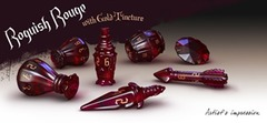Polyhero Dice: Rogue Sets - Roguish Rouge