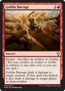 Goblin Barrage - Foil