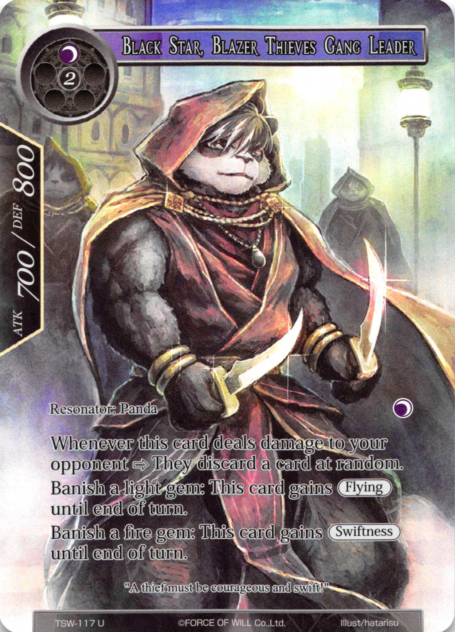 Black Star, Blazer Thieves Gang Leader (Full Art) - TSW-117 - U