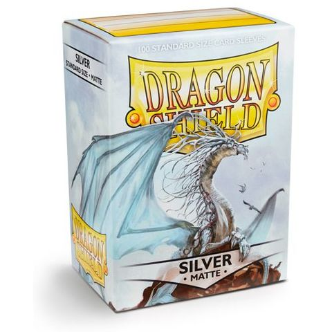 Dragon Shield Box of 100 - Matte Silver