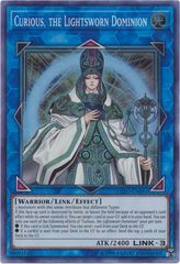 Curious, the Lightsworn Dominion - EXFO-EN091 - Super Rare - Unlimited Edition on Channel Fireball