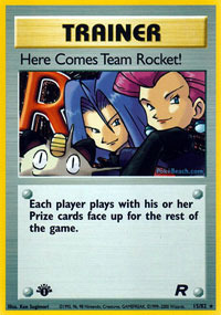 Here Comes Team Rocket! - 15/82 - Holo Rare - 1st Edition