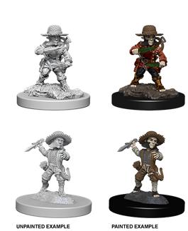 Pathfinder Battles Unpainted Minis - Male Halfling Rogue