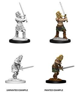 Pathfinder Battles Unpainted Minis - Male Human Barbarian (W6)