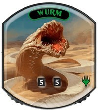 Ultra Pro - Relic Tokens: Eternal Collection - Wurm - Foil