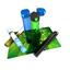 Matpod Playmat Tube: Blue