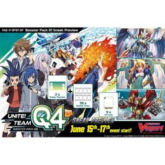 Cardfight!! Vanguard: Sneak Preview Kit V Booster - Unite! Team Q4